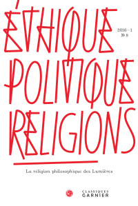 Éthique, politique, religions. 2016, n°8