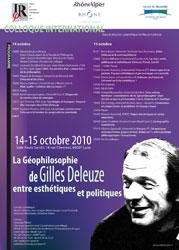 La Géophilosophie de Gilles Deleuze